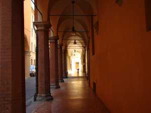 Madrelingua is in a historic porticoed street in the center of Bologna