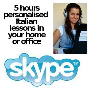 Learn Italian online via Skype: 5 lessons