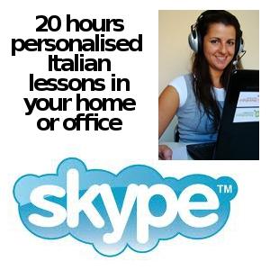 Online Italian Lessons: 20 hours via Skype