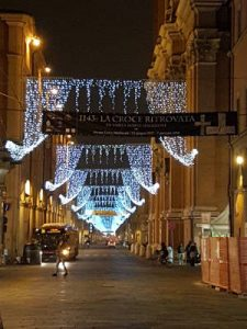 Christmas lights in via Indipendenza, Bologna - 2017